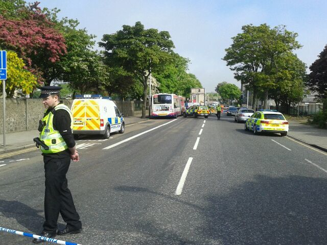The incident on King Street is ongoing, with the road completely closed to all vehicles