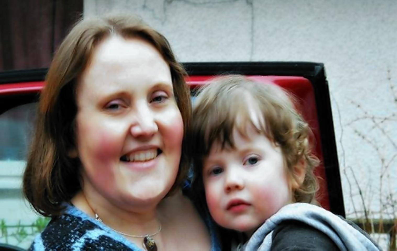 Alex Shoebridge and her son
