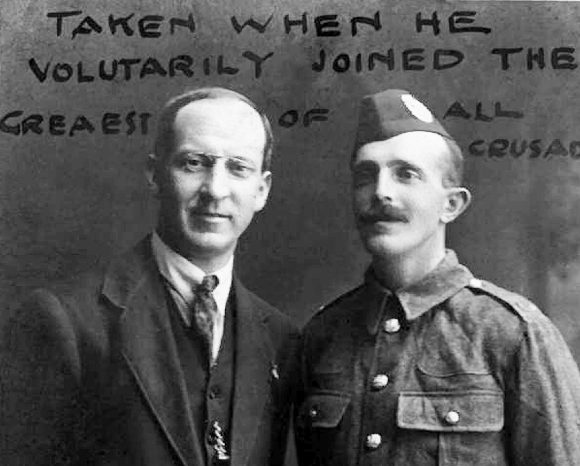 Andrew Paterson, left, with his brother-in-law George Alexander MacLennan