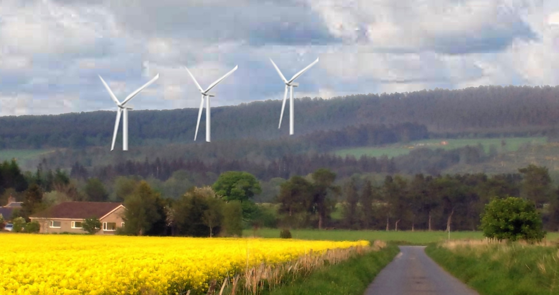 New map shows impact of wind turbines on north-east.