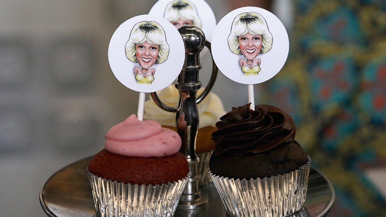 Cupcakes featuring the Duchess of Cornwall during her visit to the Seaport Farmer's Market in Halifax, Canada, during the 2nd day of the Prince of Wales and the Duchess of Cornwall's visit to Canada