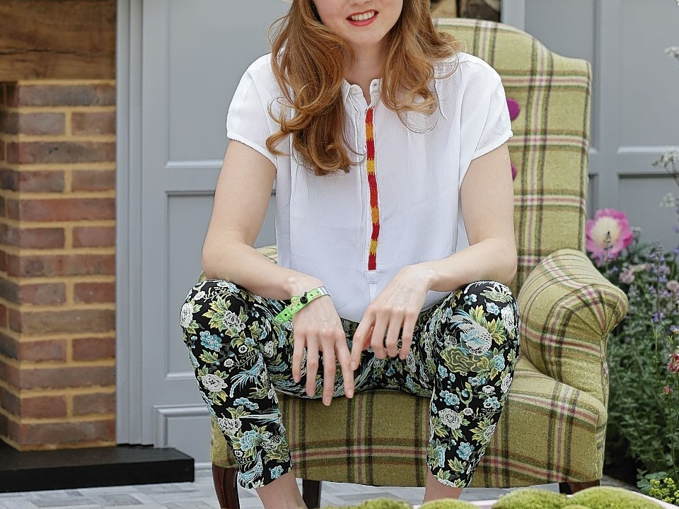 Lily Cole at House of Fraser's garden during the press day at the RHS Chelsea Flower Show, at the Royal Hospital in Chelsea