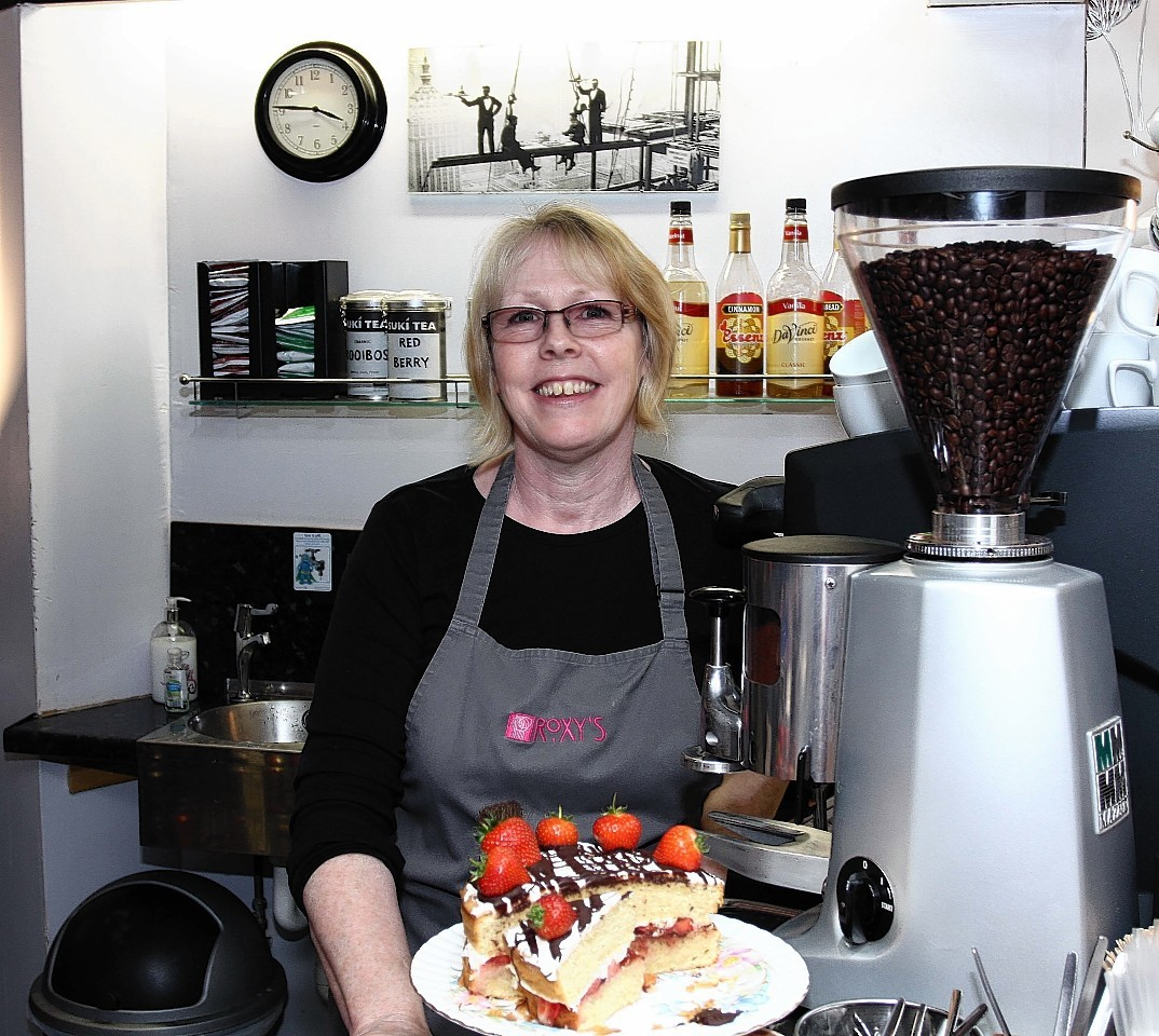 Donna MacCulloch proprietor of Roxies in Argyll Square, Oban one of the small businesses which will lose out if Costa Coffee get a grip