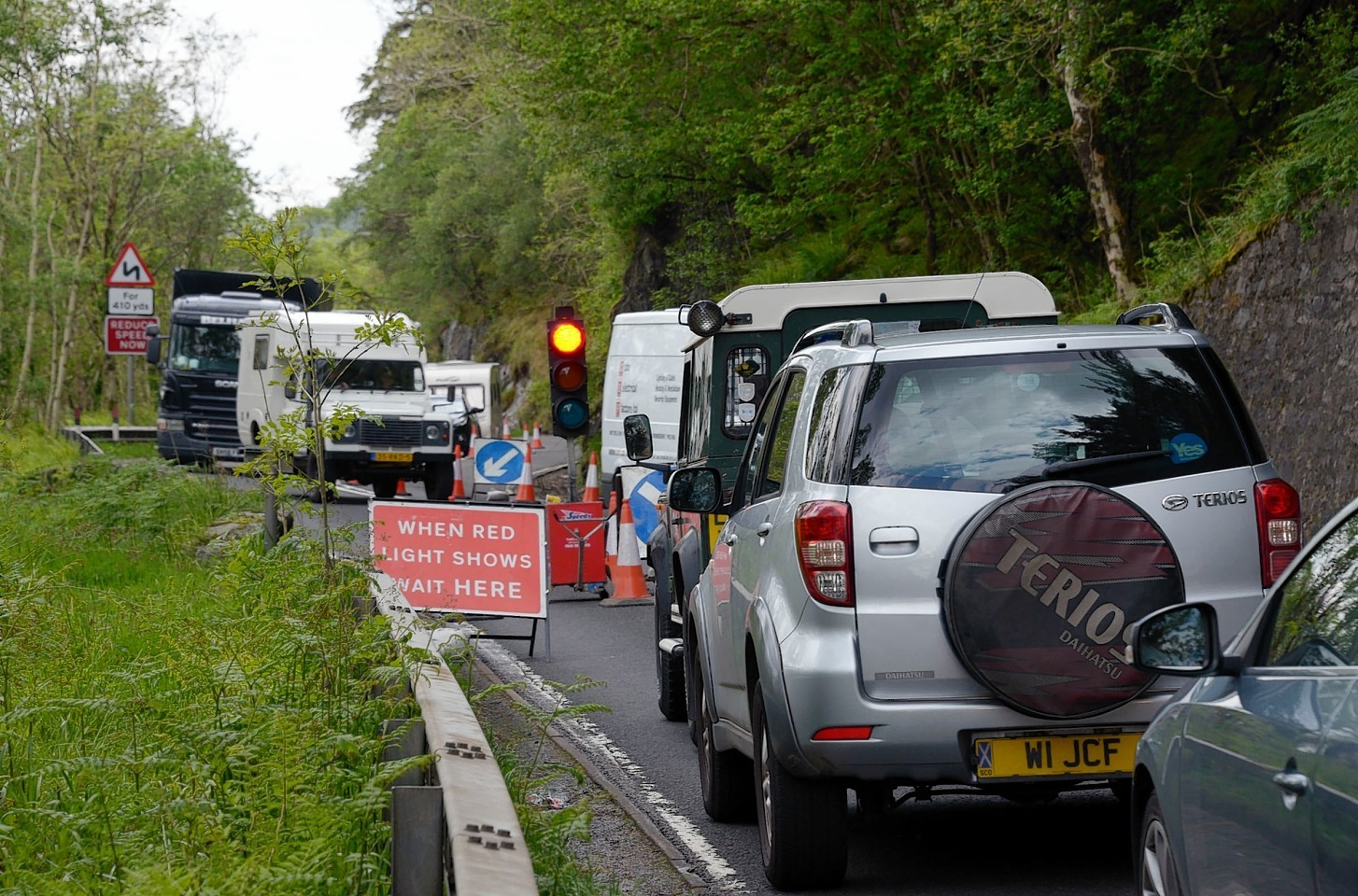 Delays on the A82 at Glen Righ
