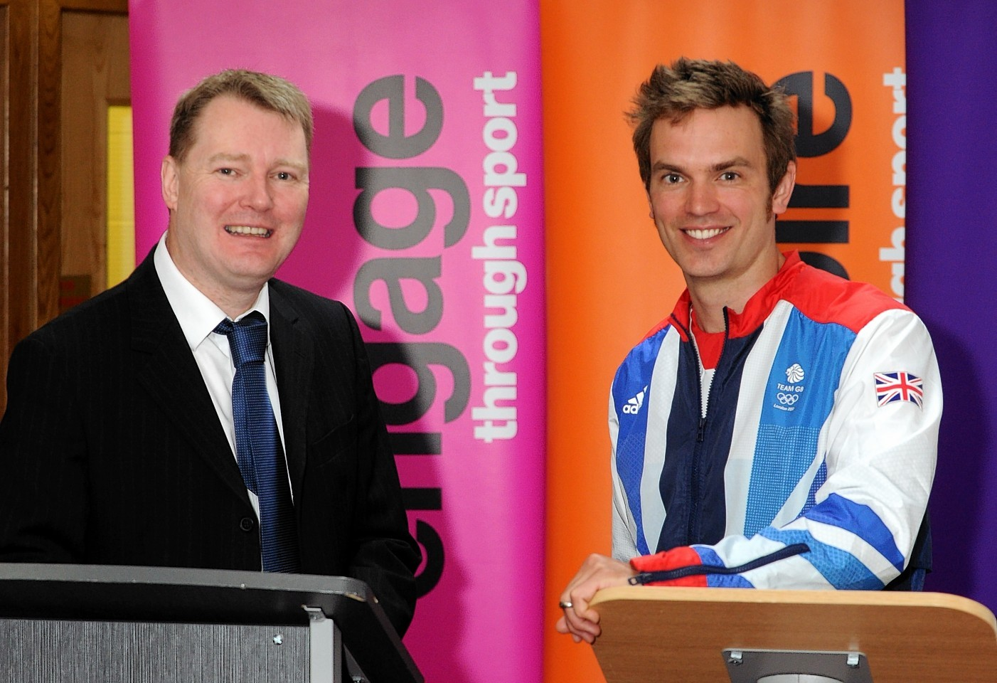 Aberdeen chief executive Duncan Fraser and Olympic gold medal canoeist Tim Baillie
