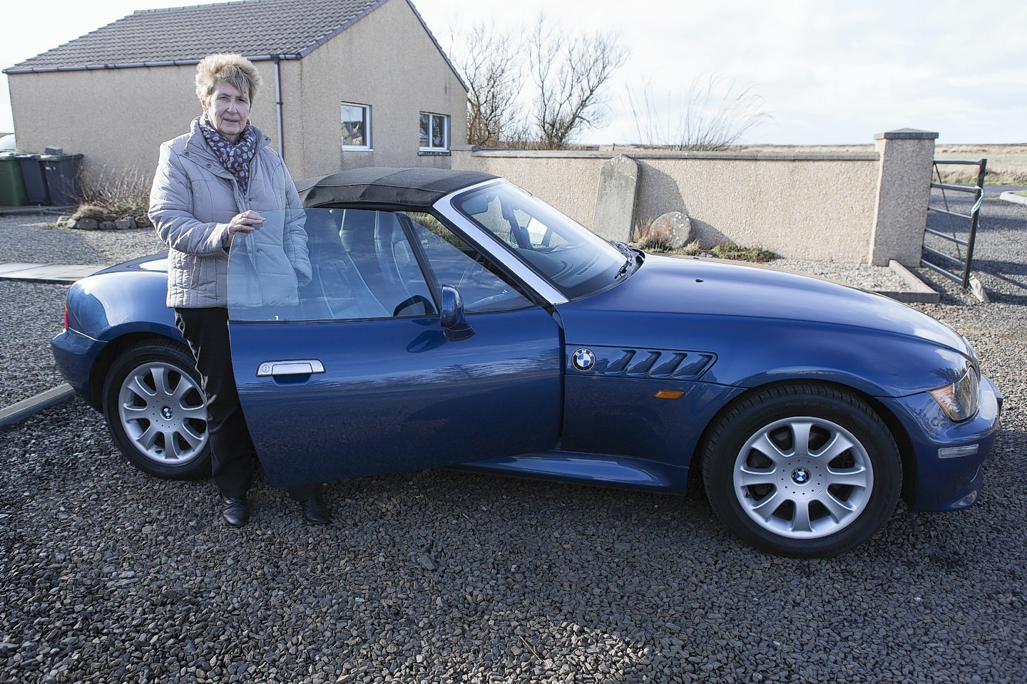 Ethel Green with her 1999 BMW Z3 Convertible