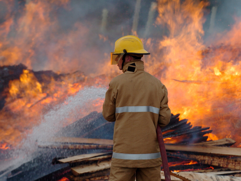 Firefighters have spent the morning tackling a spate of blazes in Elgin