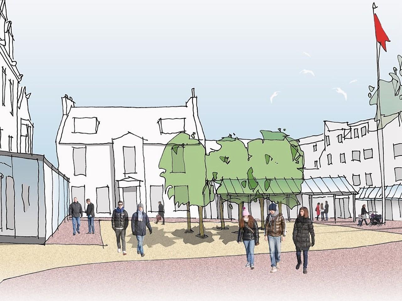 An artist impression of plans for Fraserburgh