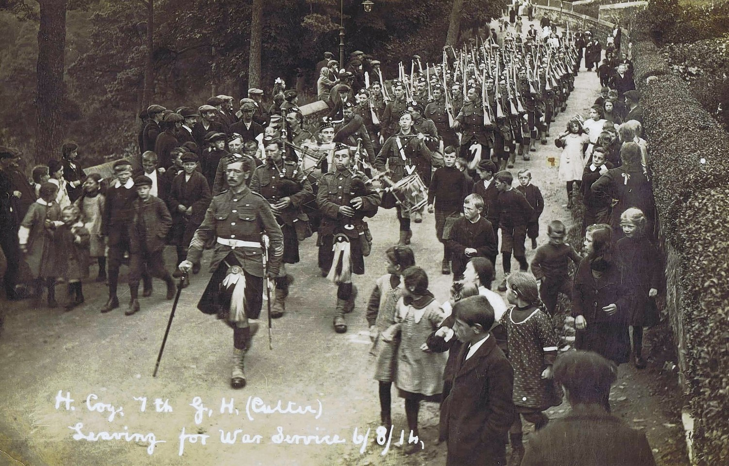 Soldiers who served in WWI with the 7th Battalion Gordon Highlanders. Photo courtesy of Gordon HIghlanders Museum