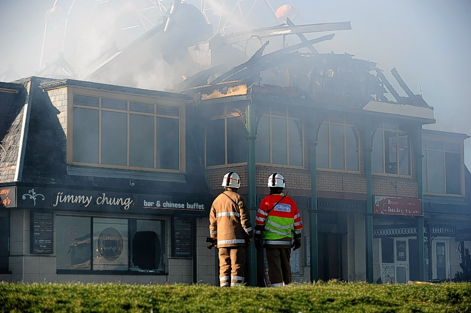 The Jimmy Chungs restaurant was destroyed in a fire