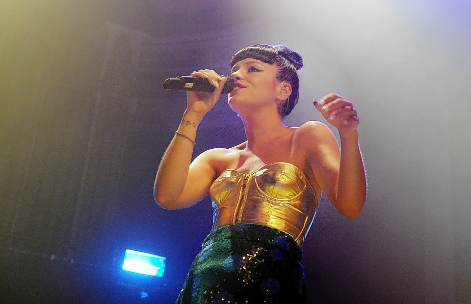 Pop singer Lily Allen at Aberdeen's Music Hall