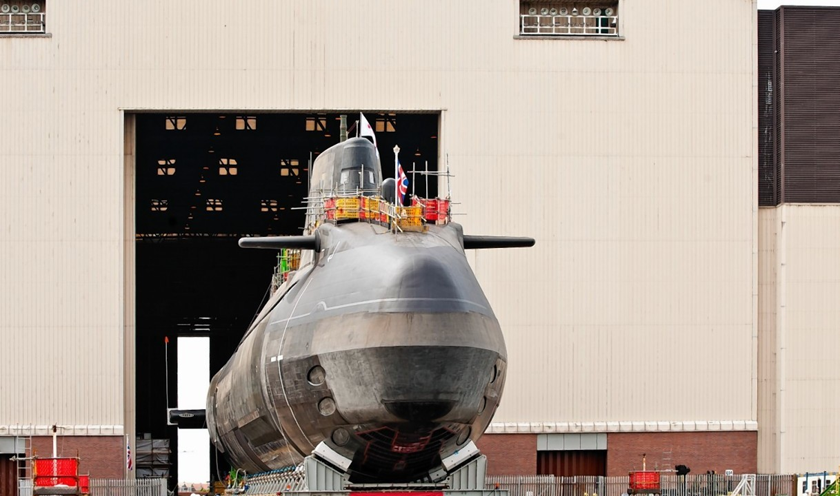 Britain's latest nuclear-powered submarine, Artful, has been launched (BAE Systems/PA)
