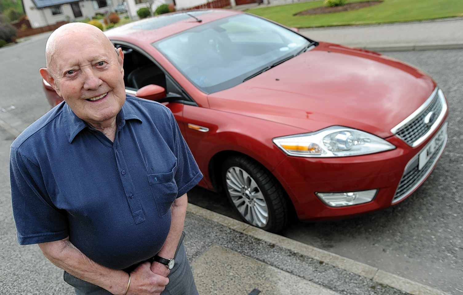 Norman Lawrence, of Kemnay, passed the advanced driving exam when he was 95