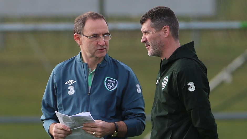 Republic of Ireland manager Martin O'Neill (left) will not stand in assistant Roy Keane's way if he is wanted by Celtic