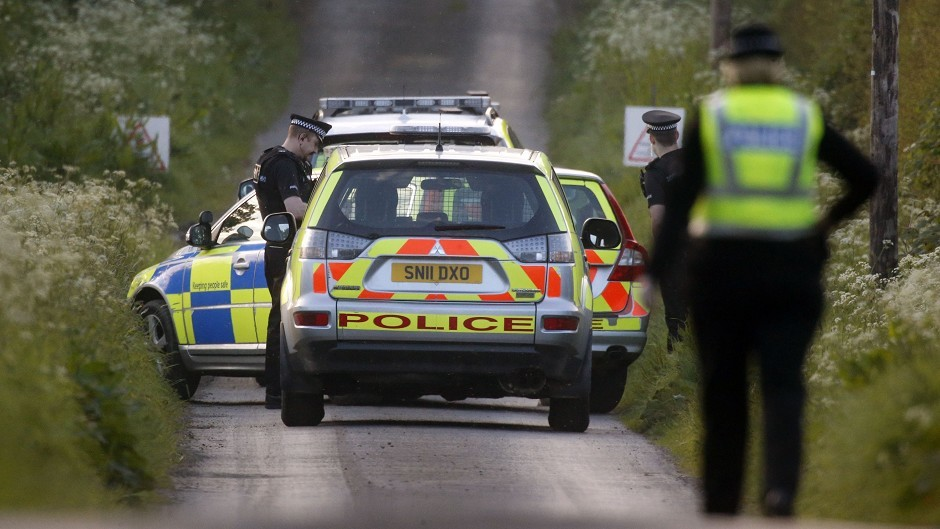 Emergency services attended the crash in Aberdeenshire
