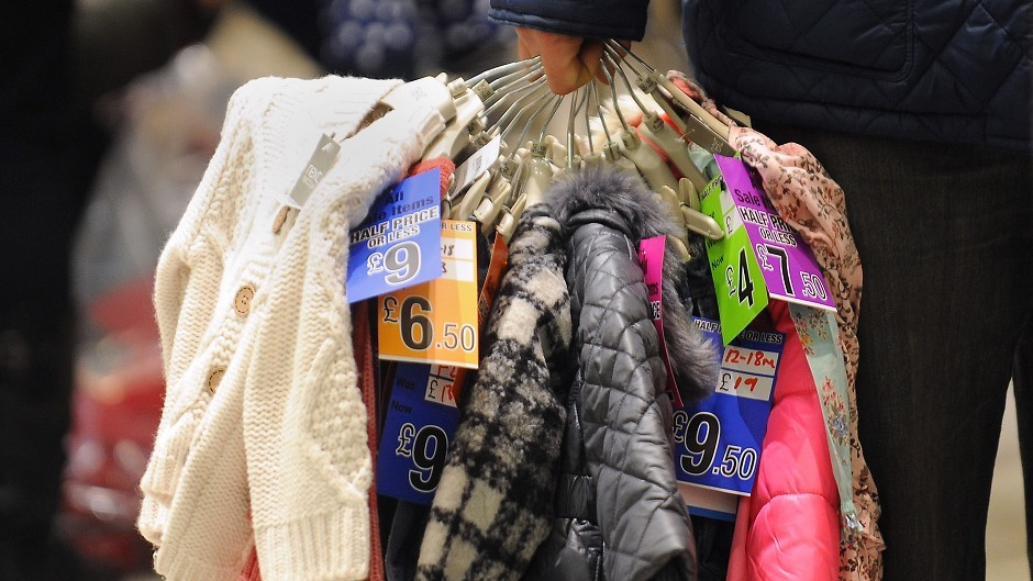 Clothing and footwear returned the strongest performance in more than three years, the Scottish Retail Consortium said