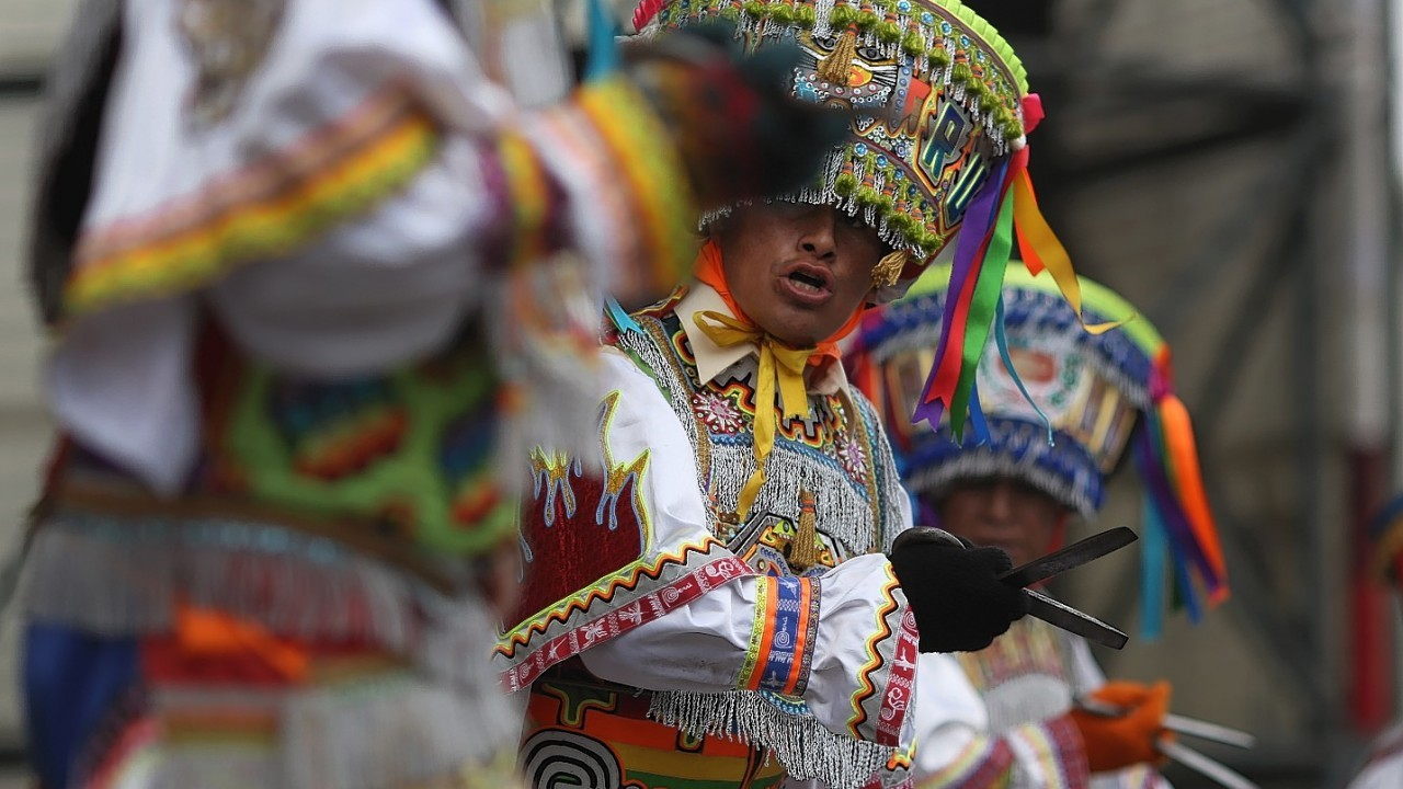The scissors dance is performed by inhabitants of Quechua villages and communities in the south-central Andes of Peru, and now in urban settings. This competitive ritual dance is performed during dry months coinciding with the main phases of the agricultural calendar.