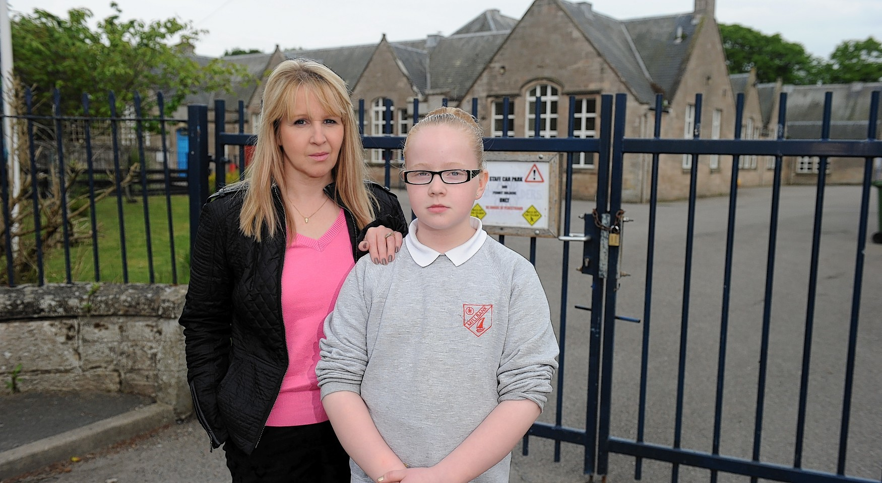 Mother and daughter, Lynn Main and Lauren Main, 10 a pupil at Millbank Primary School, Nairn