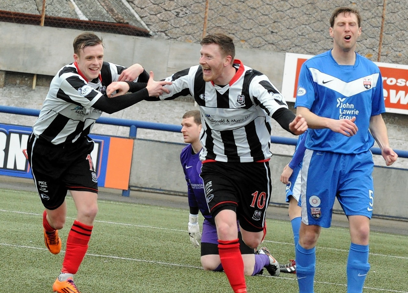 Elgin striker Shane Sutherland