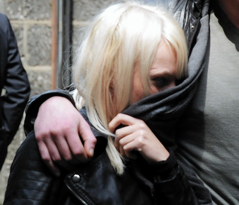 Stripper Kirsty Brown outside court