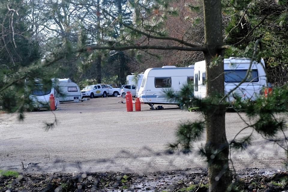 Travellers at Hazlehead Park