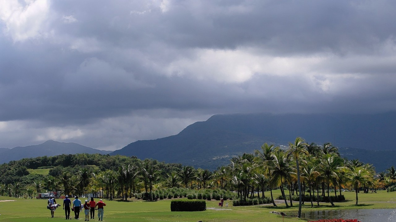 Stormy skies over Trump's Puerto Rico course
