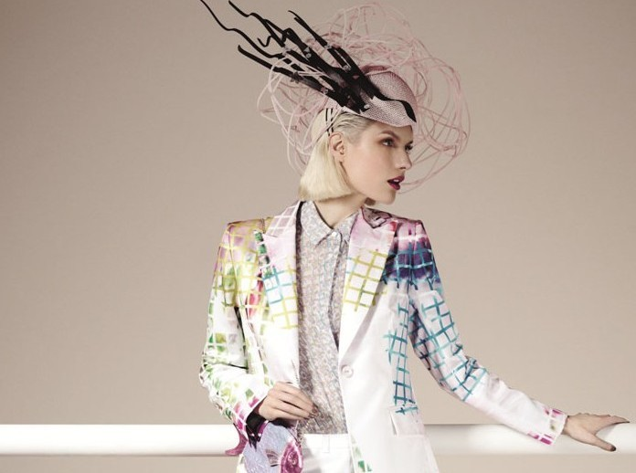 Vanessa G Suit Jacket - £550, Headpiece Harvy Santos - £1050