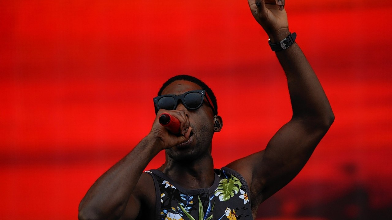 Tinie Tempah performing during Radio 1's Big Weekend at Glasgow Green, Glasgow.