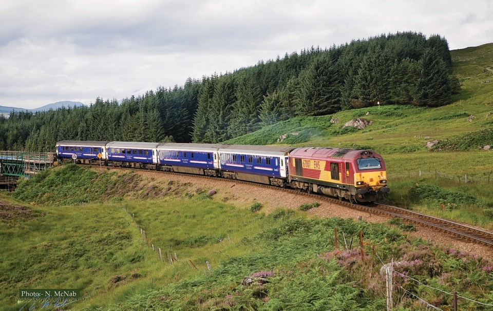 The Caledonian Sleeper service in action.