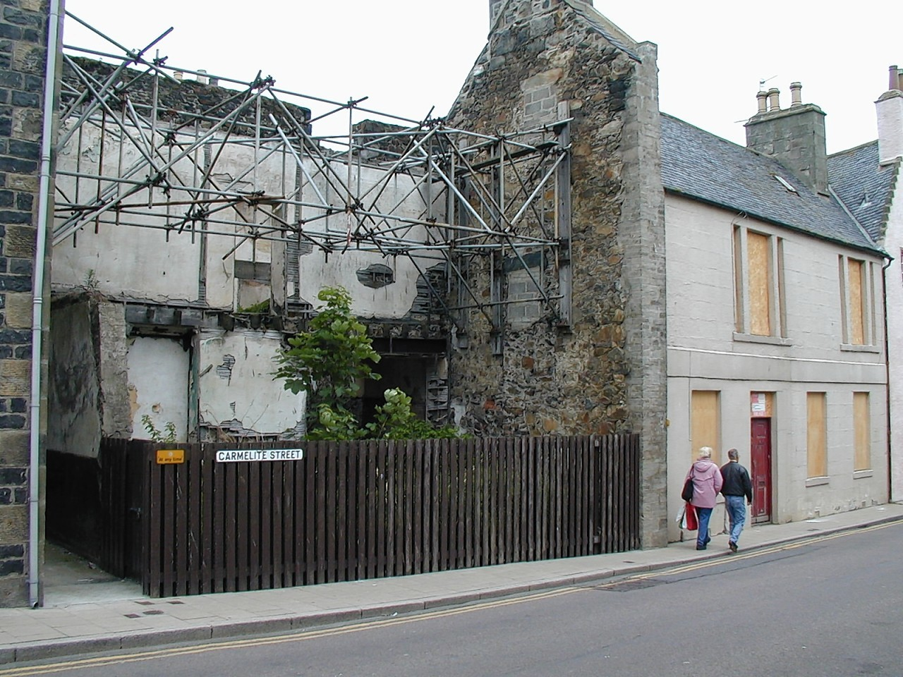 """The former """"eyesore"""" gap site on Banff's Carmelite Street"""