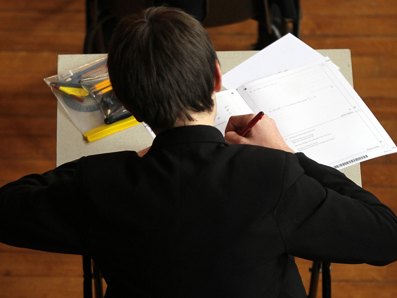 The 16-year-old was accused of cheating in the English exam