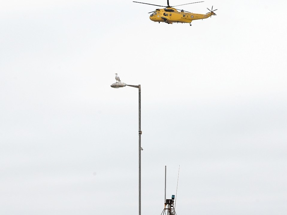 An air search has been ongoing offshore