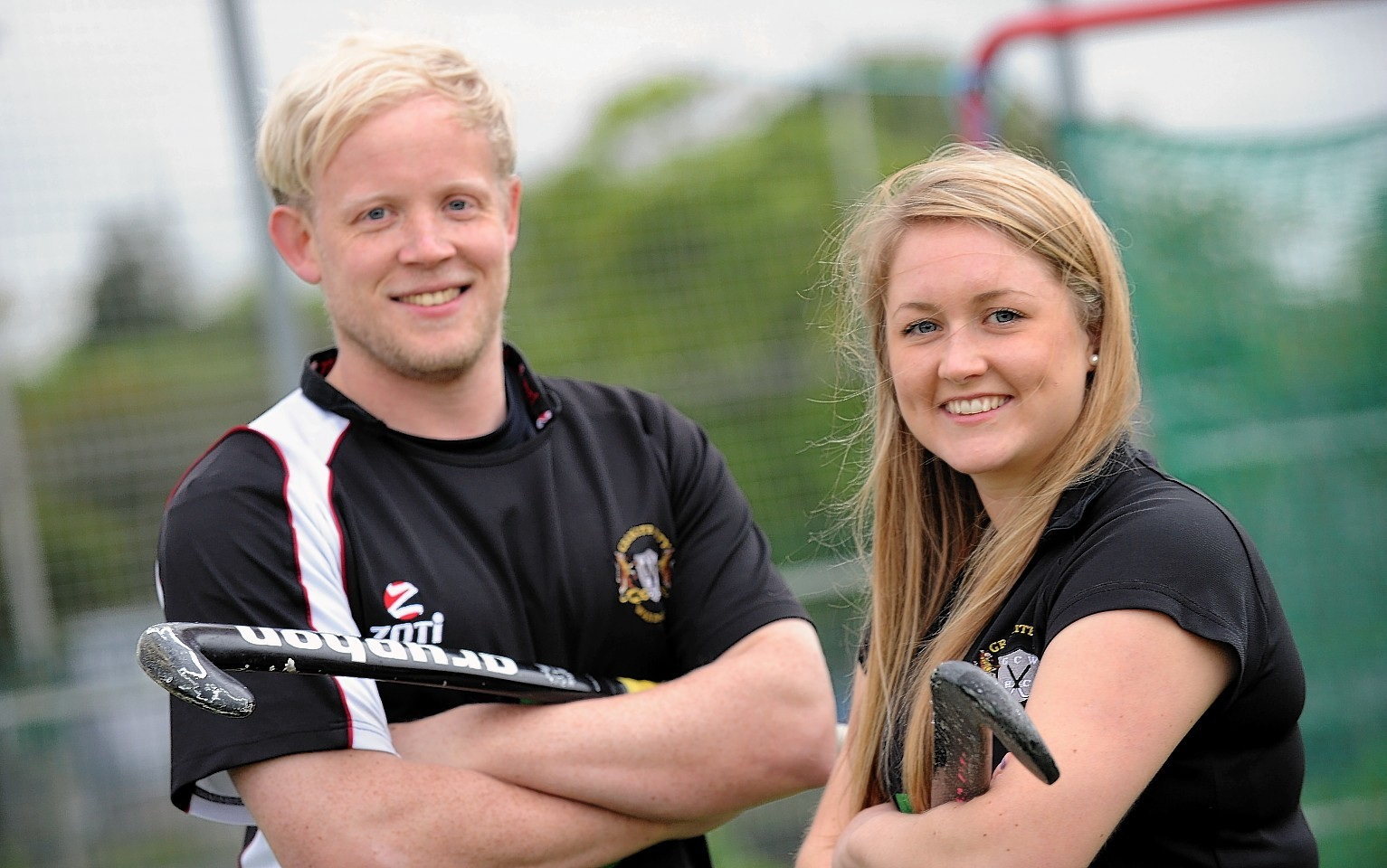 Granite City Wanderers captains Leon Wilkie and Jane Cargill are ready for cup final action