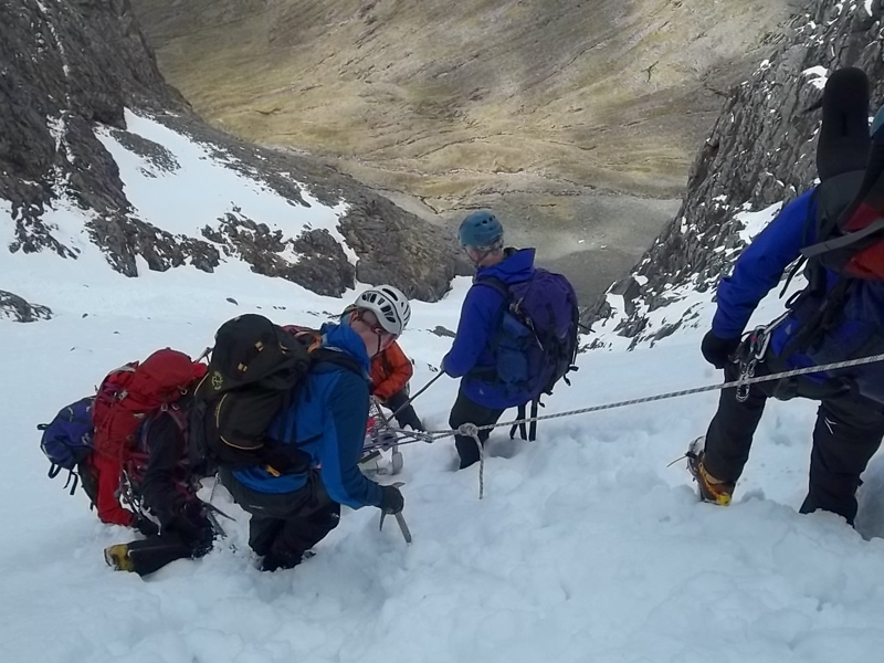 The mountain rescue team were called out to Sgorr Bhan