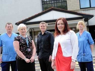 Members of the current nursing staff at Cornhill Hospital