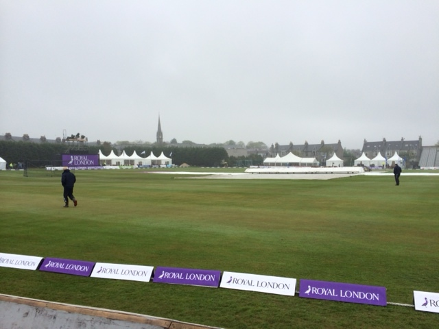 A wet day at Mannofield for the cricket