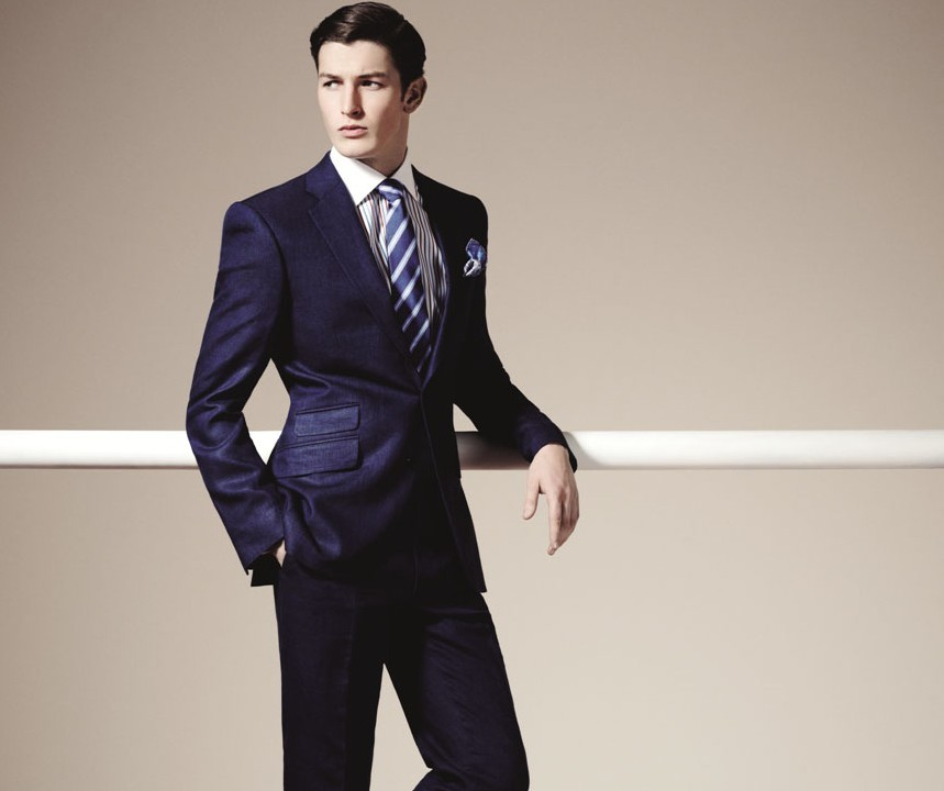 Gieves and Hawkes navy suit - £895