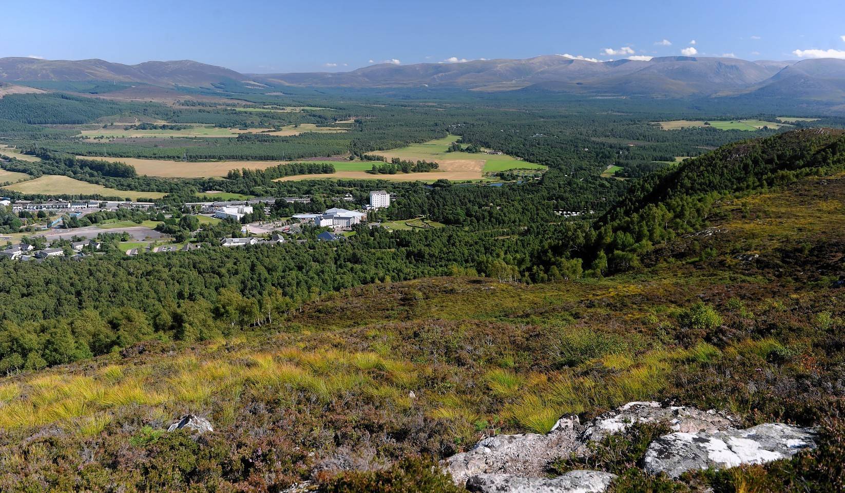 The site of the proposed An Camas Mor village near Aviemore