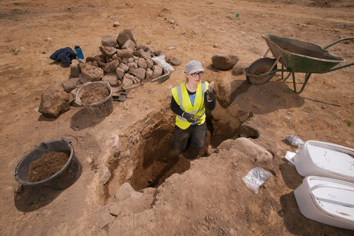 Archaeological dig at the Dyce park and ride
