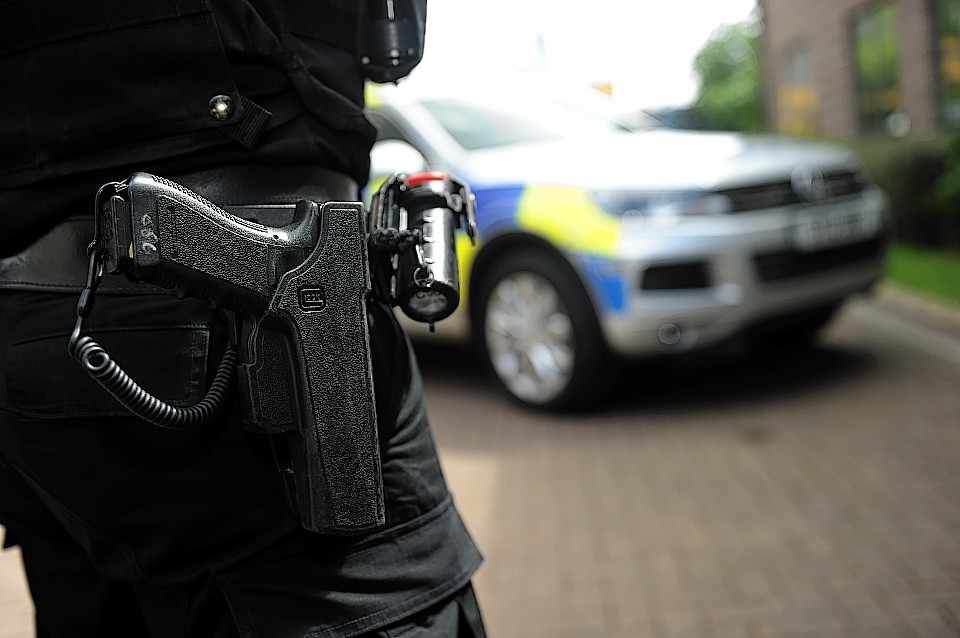 Armed officers have caused alarm in Inverness city centre