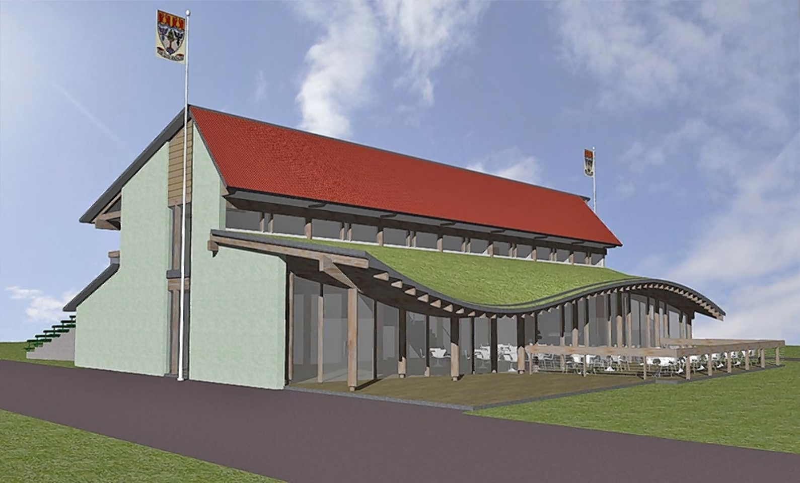 Artist impression of the new Braemar Highland Games Centre