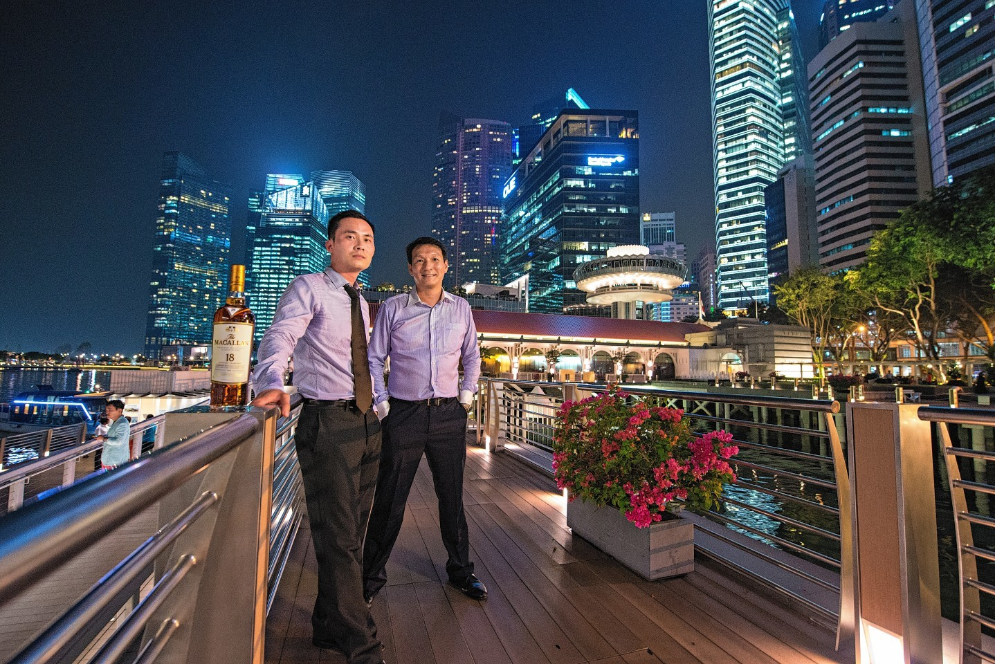 Jeremy Ong. left, and Jeffrey Loo from Edrington's new Singapore team