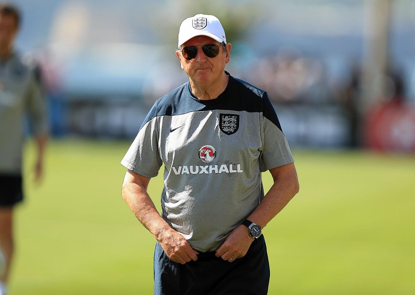 Gordon Brown has said he's backing Roy Hodgson's England team