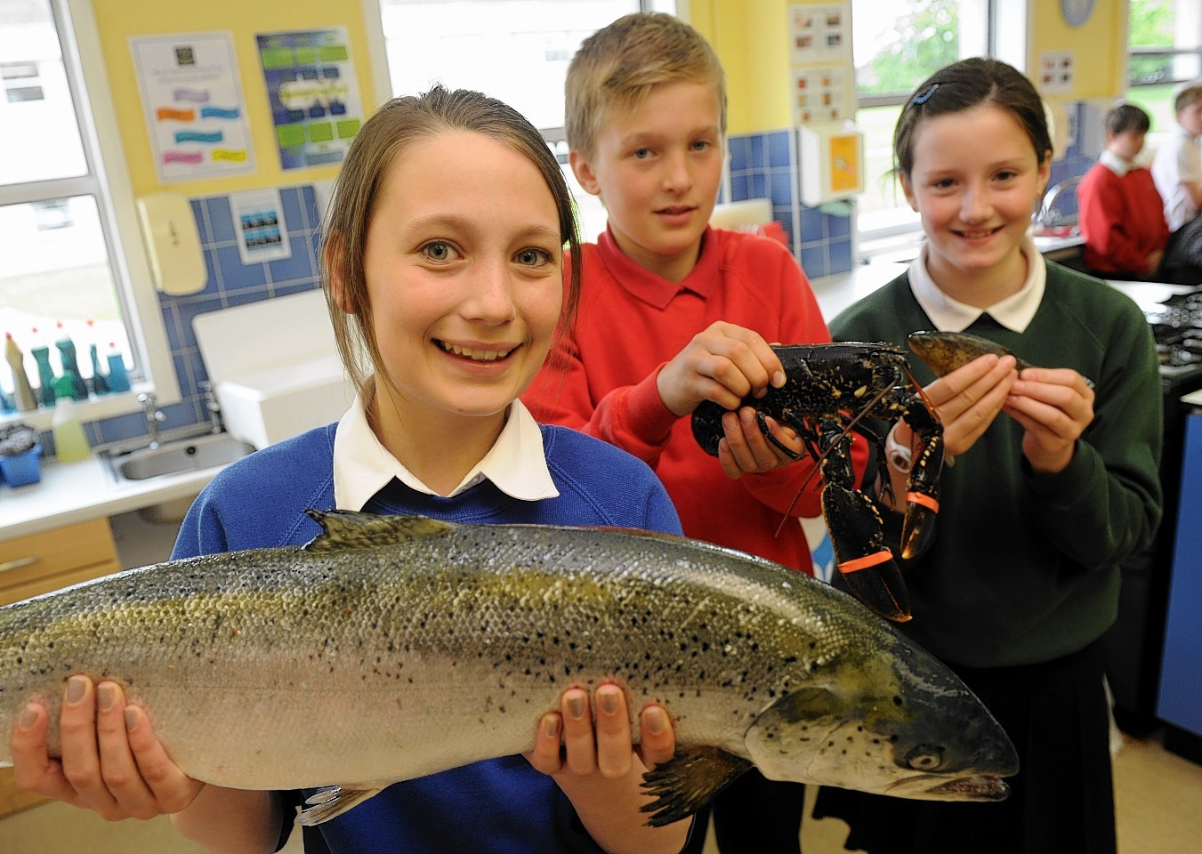 Pupils at Milne High get to grip with seafood