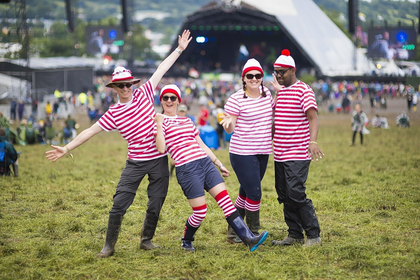 Music fans are having fun at Glastonbury