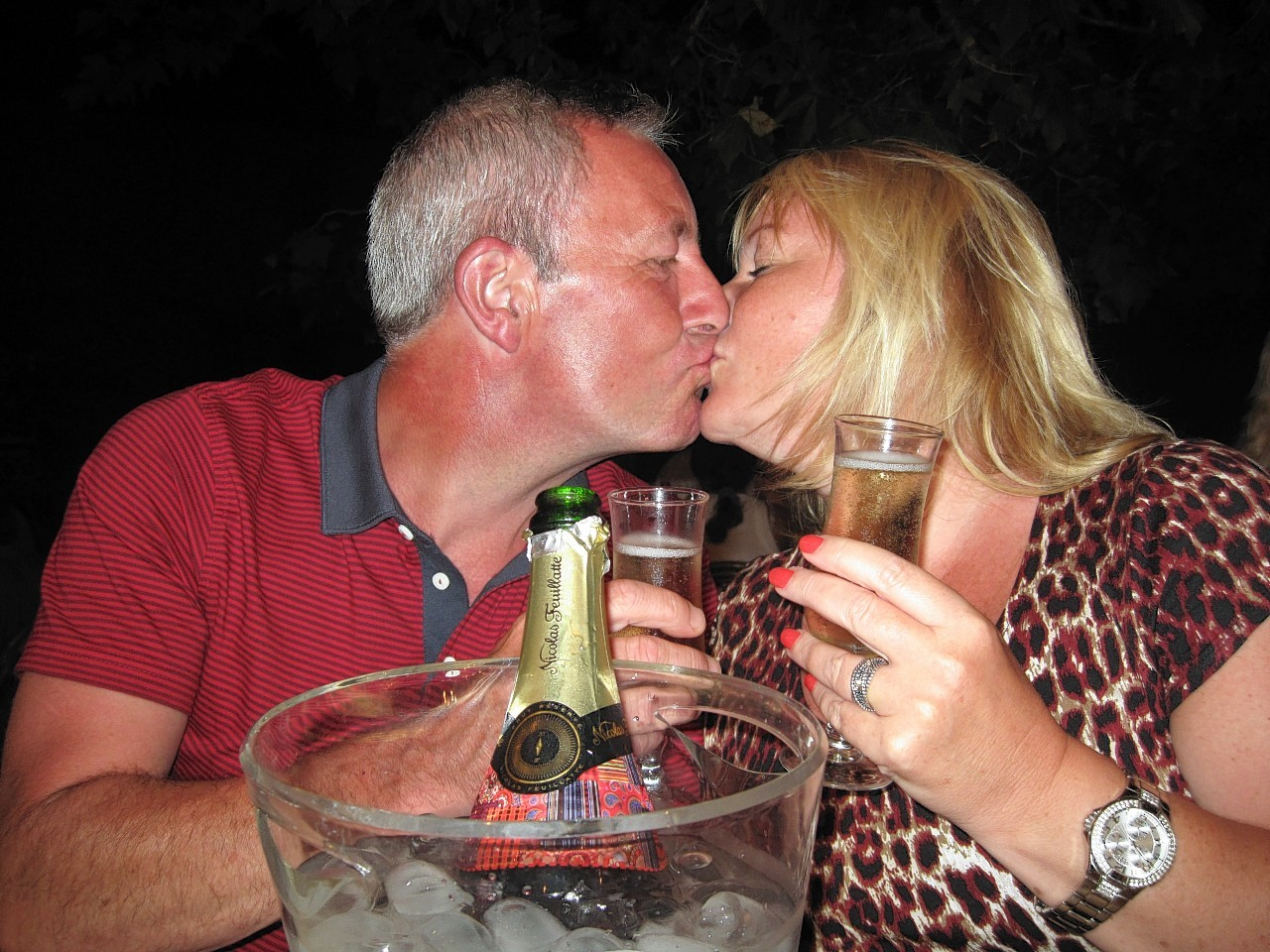 Jackie Davidson and her husband