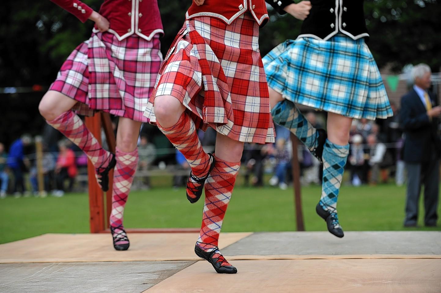 Highland dancers. Credit: Kenny Elrick.