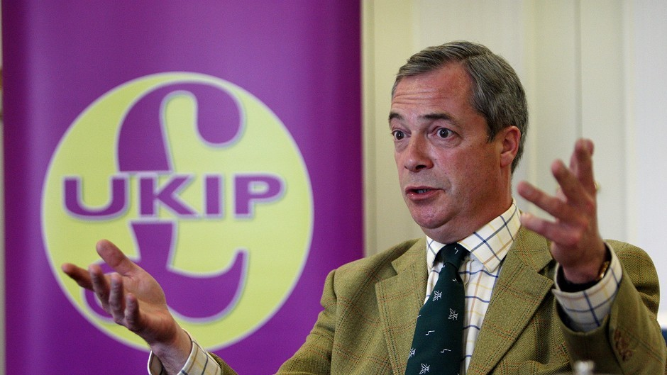 "Nigel Farage has attacked the SNP, labelling the party ""openly racist"""