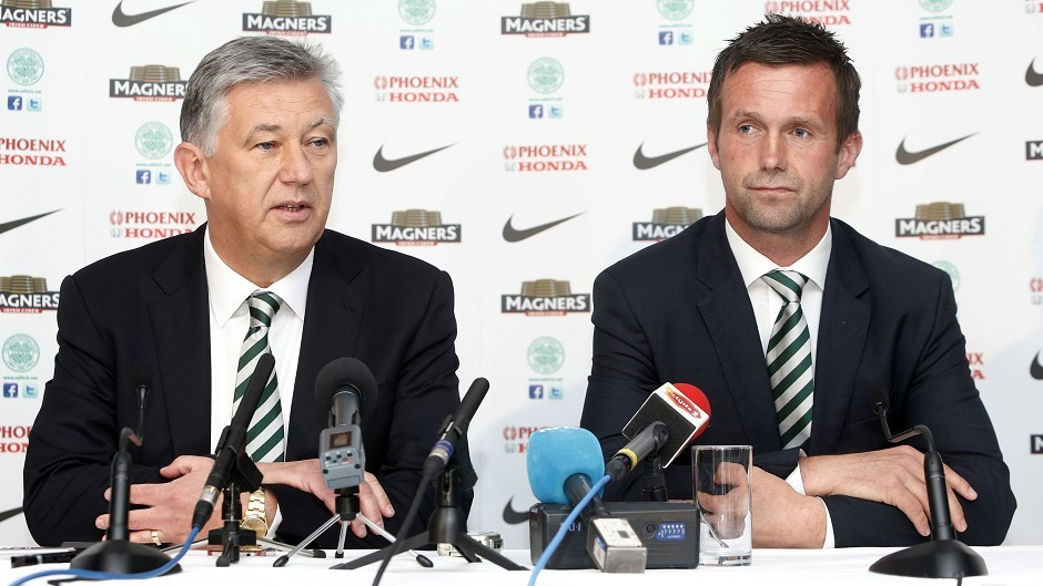 Ronny Deila, right, addressed the media following his appointment