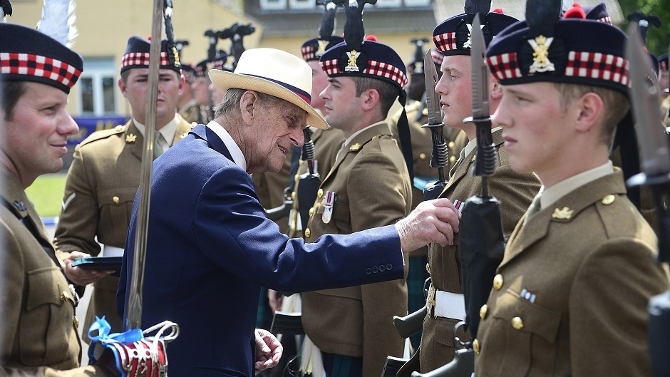 The Royal Regiment of Scotland will parade down Union Street on Tuesday